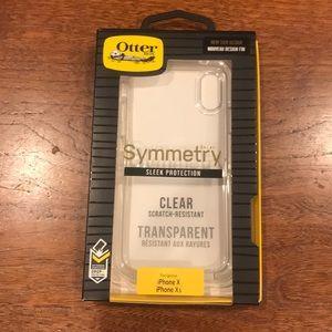 iPhone X clear otter box phone case